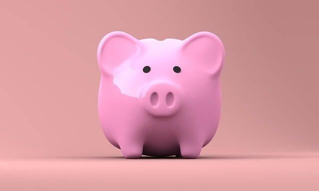 Imagen de alcancía color rosa en forma de cerdito